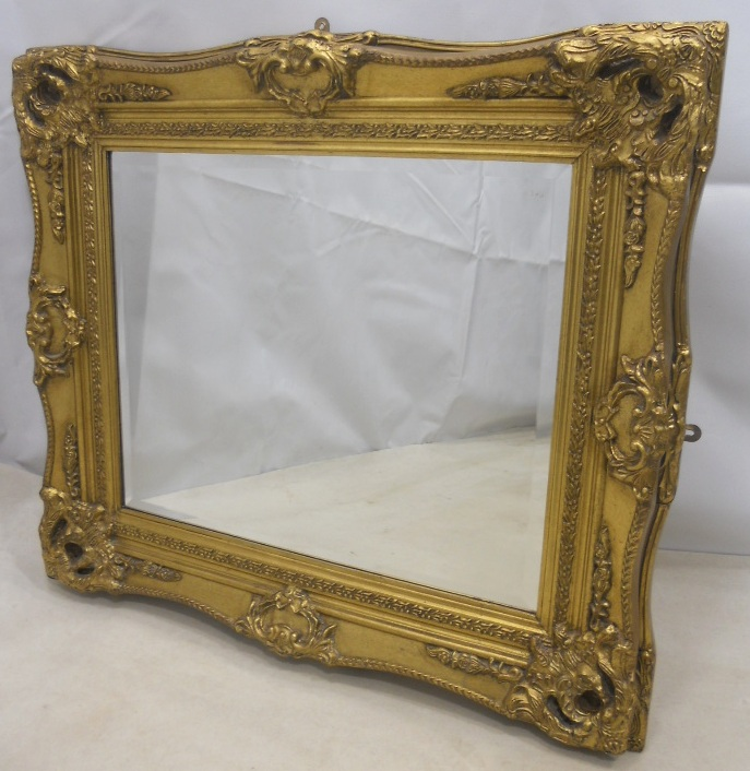 Heavy Gilt Hanging Wall Mirror
